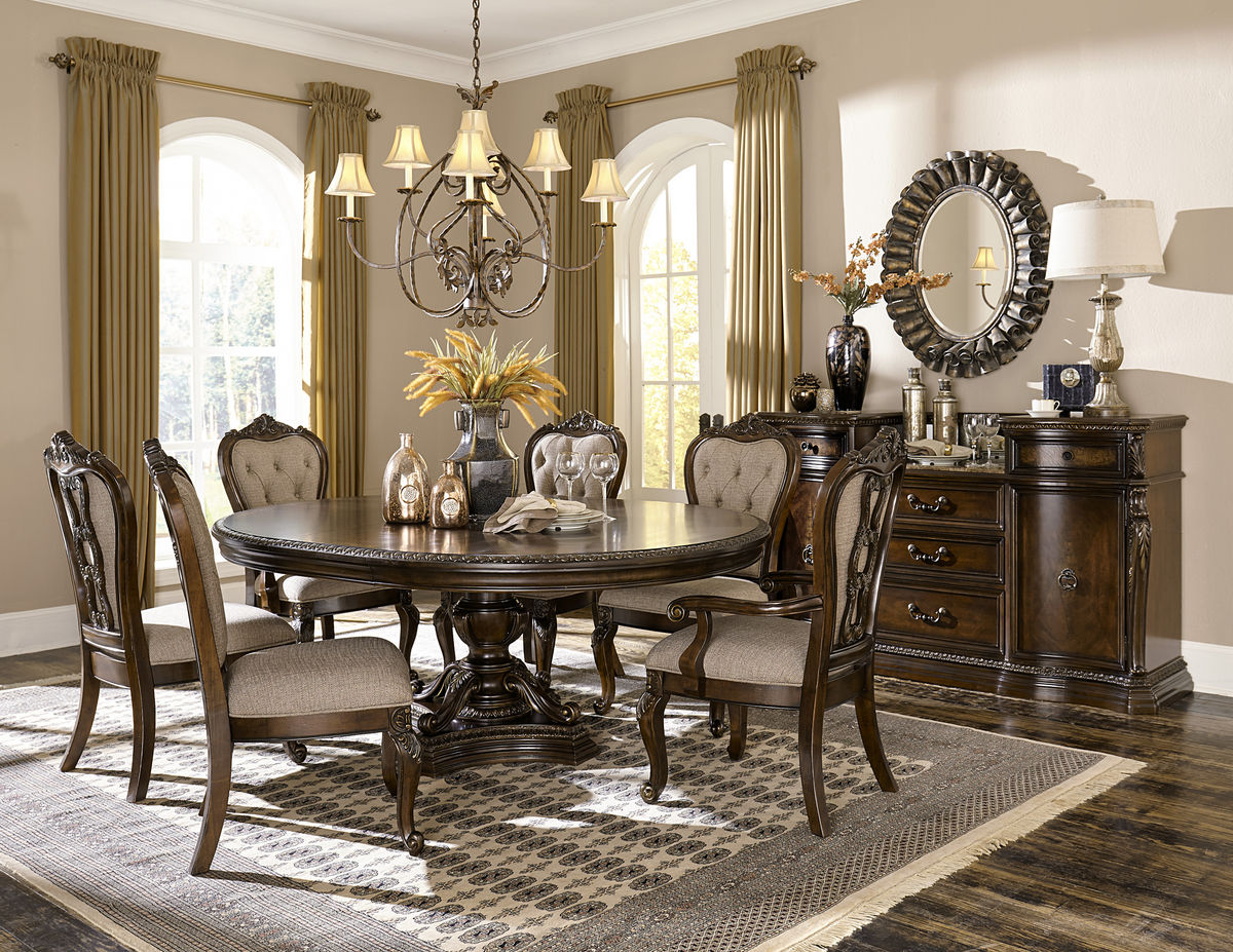 Homelegance 1935-76 Round 5-Piece Pedestal Dining Set in Cherry