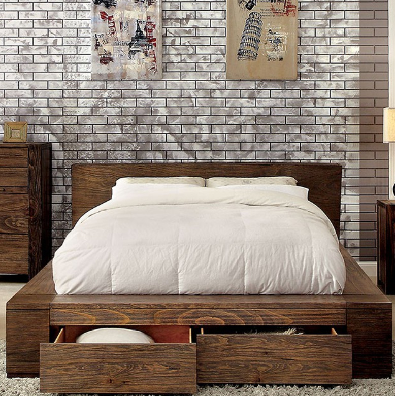 Janeiro Platform bed with Drawers