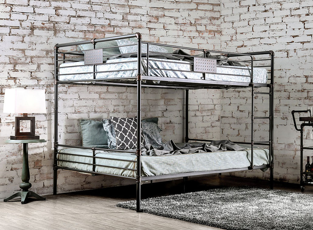 Queen Over Queen Metal Bunk bed